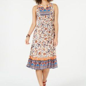 Style & Co Paisley Flower Midi Dress